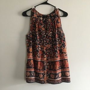 Lucky Brand Floral Print Tank Top